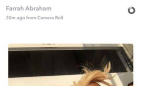 Farrah Abraham Topless Snapchat