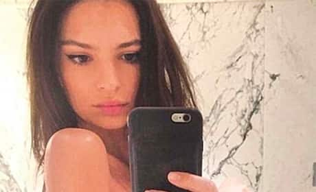 Emily Ratajkowski Topless Bathroom Photo