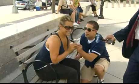 Yankee Fans Get Engaged on TV