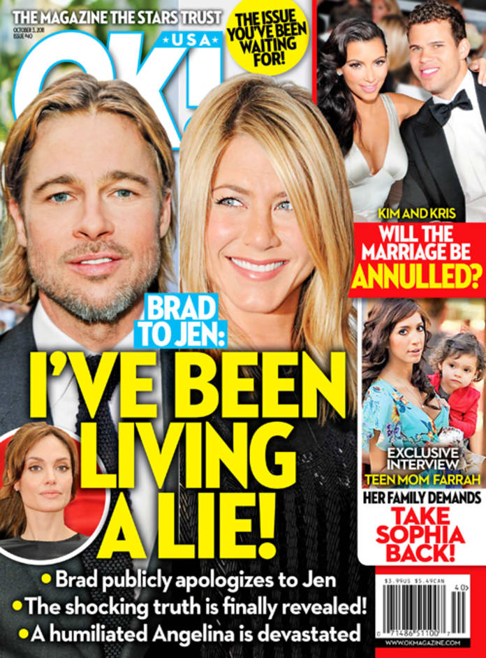 Brad Pitt to Jennifer Aniston: I'm Living a LIE!!! - The