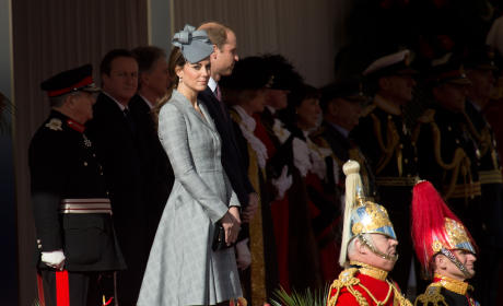 Kate Middleton: Ceremonial Welcome For The President of Singapore