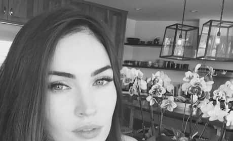 Megan Fox in Black and White