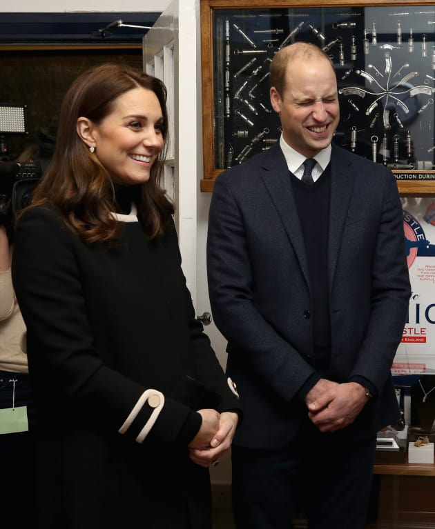 Prince William and Kate Middleton Laugh