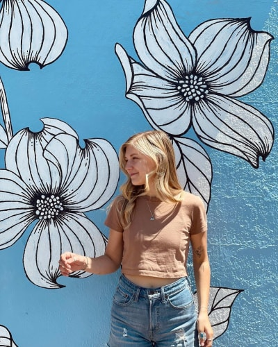 Gabby Petito and a White Flower Murals