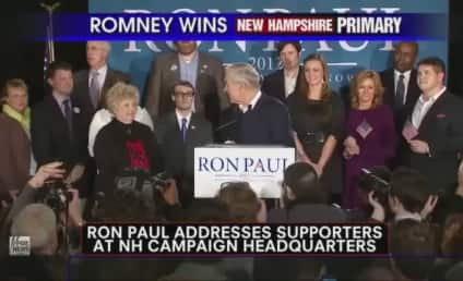 """Ron Paul Claims """"Victory For Liberty"""" in New Hampshire Primary"""