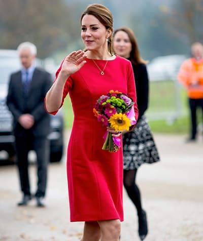 Elegant Kate Middleton In Red