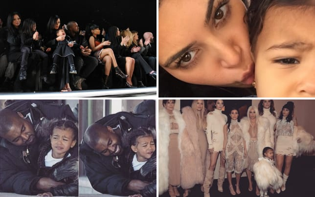 North west melts down at alexander wang fashion show