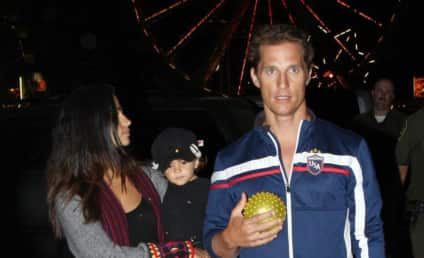 Matthew McConaughey Wears Shirt, Escorts Camila Alves
