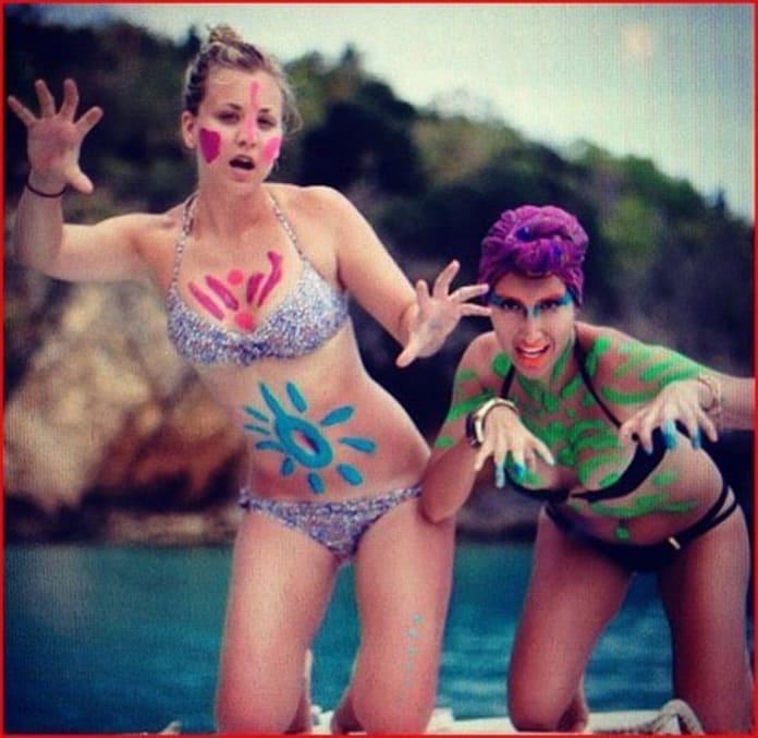 Cuoco bikini kaley [EXCLUSIVE!] Kaley