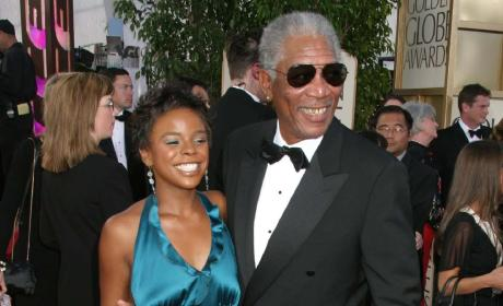 Morgan Freeman and E'Dena Hines