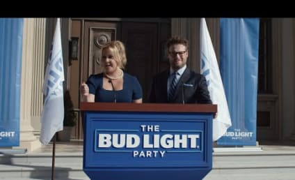 Amy Schumer and Seth Rogen Form Bud Light Party for Super Bowl 50