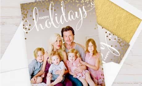 Tori Spelling Christmas Card