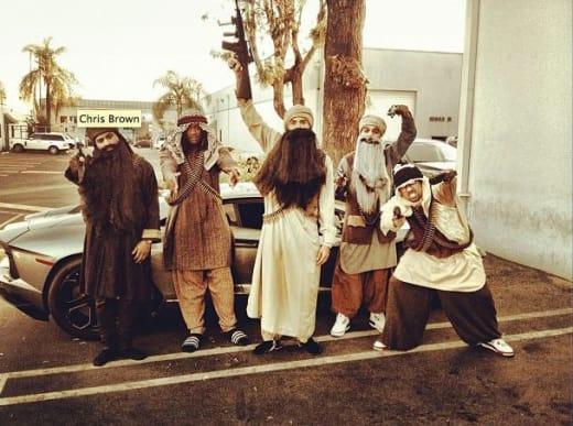 Chris Brown, Terrorist Costume