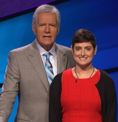 Cindy Stowell and Alex Trebek
