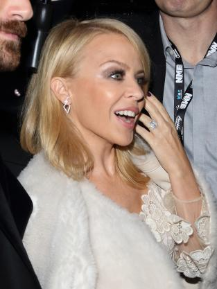 Kylie Minogue engagement ring