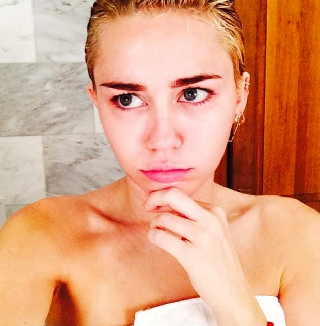 Miley Cyrus After a Shower