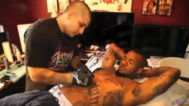 The game gets obama tattoo watch now the hollywood gossip for The game tattoos