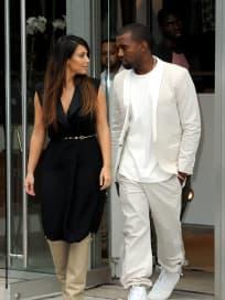 Kanye and Kim in Soho
