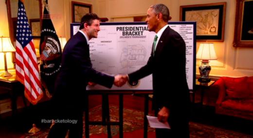Barack Obama and Andy Katz