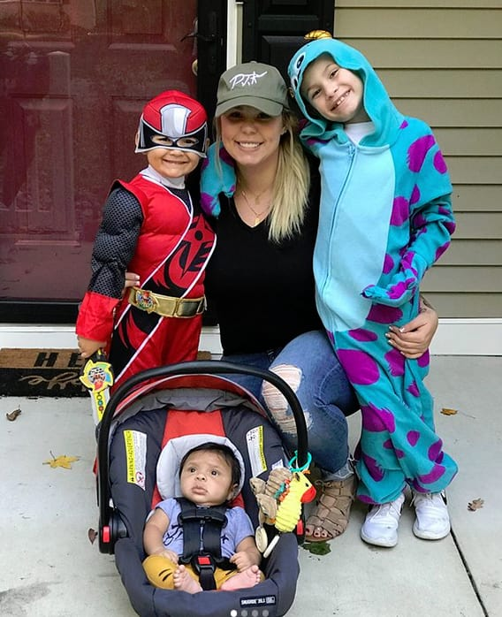 Kailyn lowry with isaac lincoln and lux halloween 2017