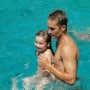 Meadow Walker and Paul Walker in the Pool