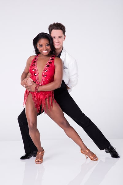 Simone Biles and Sasha Farber