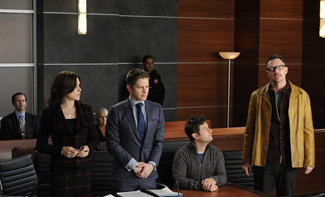 Alicia and Will in Court