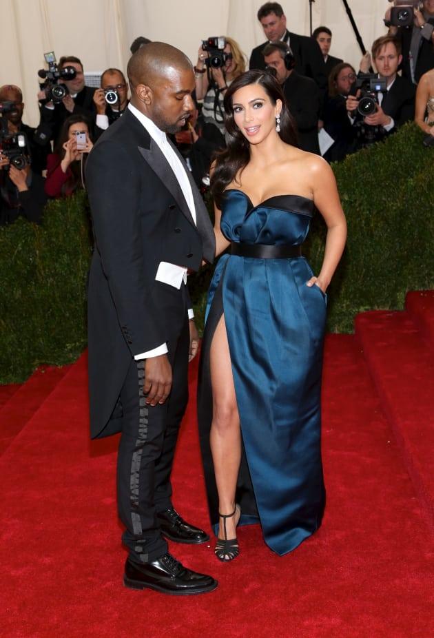 Kim Kardashian and Kanye West MET Gala Image