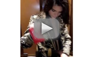 Kendall Jenner shows off nipples in sheer bra