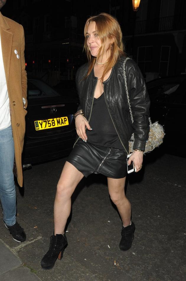 Lindsay Lohan Parties in London