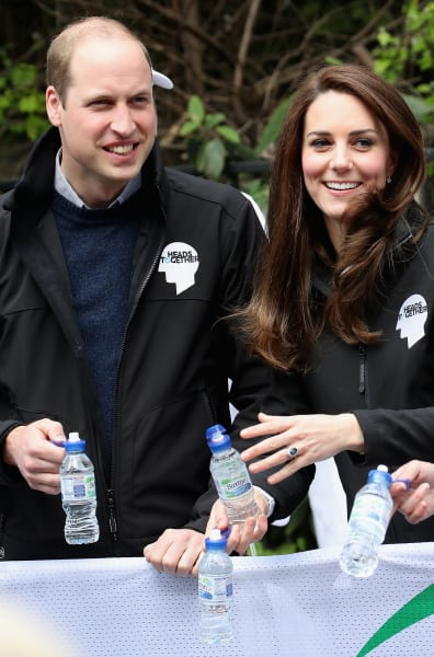Kate Middleton and Prince William at the Marathon