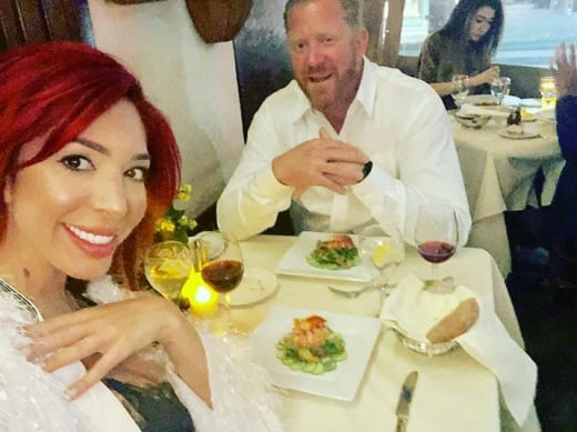 Farrah Abraham and Aden Stay, having a launch together
