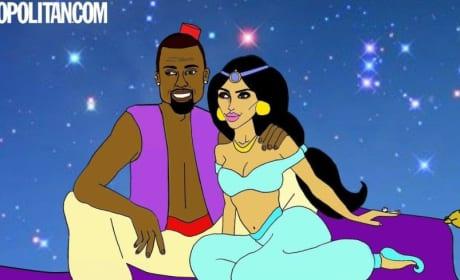 Kim and Kanye in Aladdin