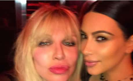 Courtney Love and Kim Kardashian