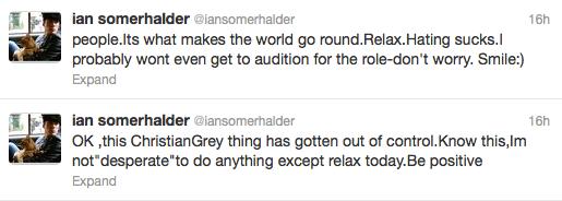 Ian Somerhalder Tweeting