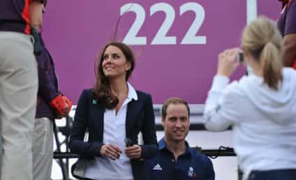 Kate Middleton Olympic Fashion Watch: One-Button Blue Blazer!