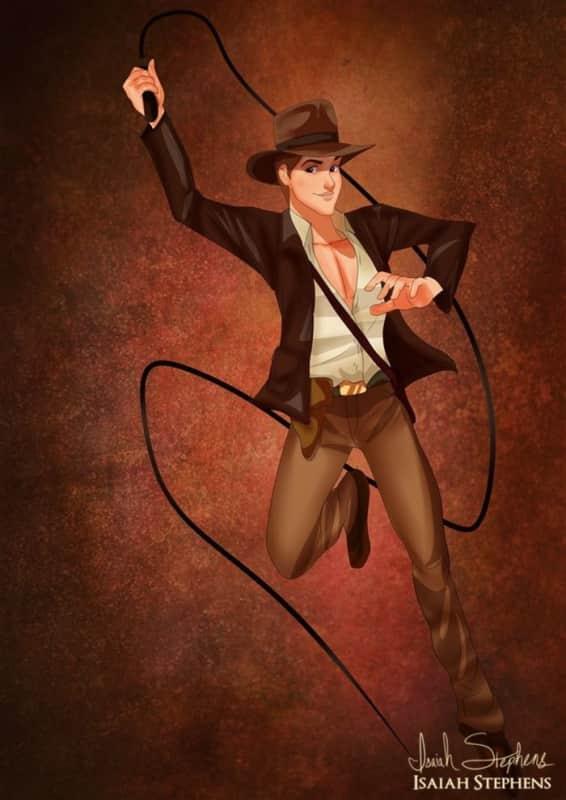Prince Philip as Indiana Jones