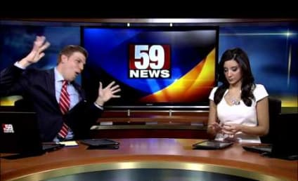 "Anchor Rocks Out to ""Shake It Off,"" Elicits Zero Reaction from Unamused Colleague"