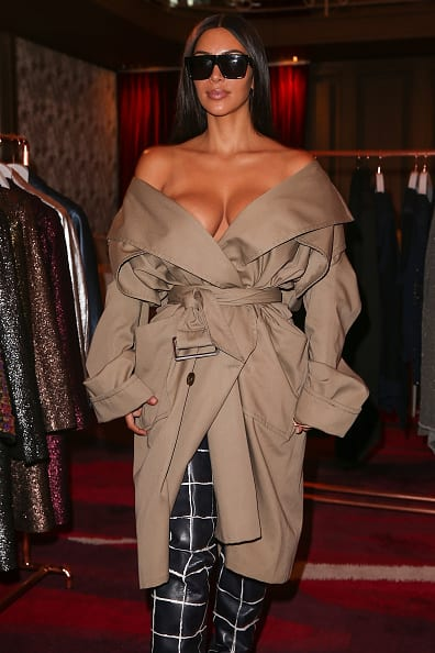Kim Kardashian Attends Siran Presentation Hotel Plaza Athenee - Paris Fashion Week