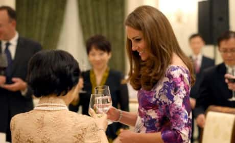 Kate Middleton Drinking Water