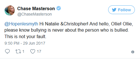 Chase mastersons tweet