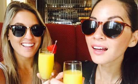 Brittany Farrar and Olivia Munn