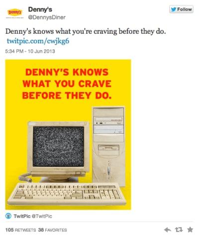 Denny's Tweet