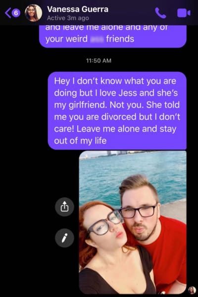 Colt Johnson fake texts to Vanessa via Jess Caroline