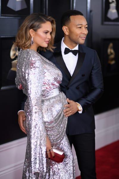 John Legend Cradles Chrissy Teigen's Baby Bump