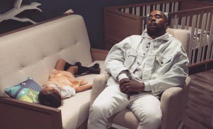 Kanye West Finally Stops Tweeting, Falls Asleep Alongside Daughter