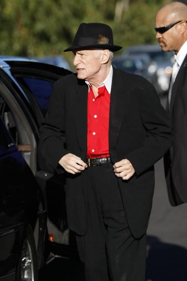 Hugh Hefner Clothed!