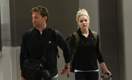 Juan Pablo and Nikki Ferrell at the Airport