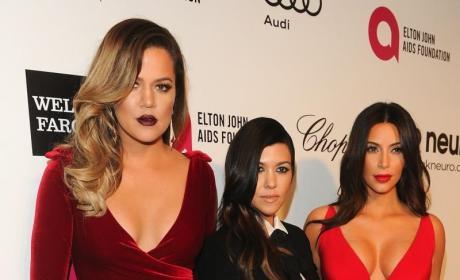 Kourtney and Khloe Kardashian in the Hamptons