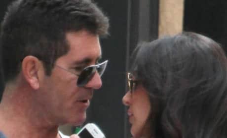 Simon Cowell, Lauren Silverman on Vacation